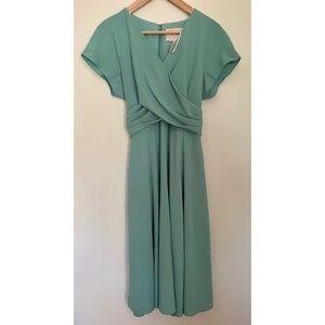 Gal meets glam crisscross bodice dress size 10 NWT